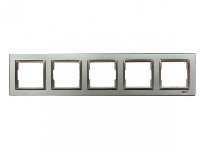 Рамка 5-я горизонтальная Luxel JAZZ (9725) Графитовая