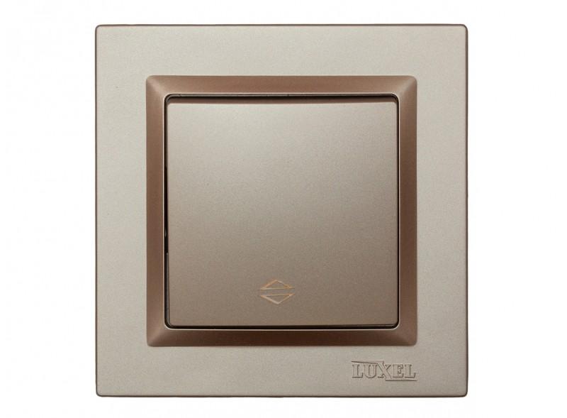 Выключатель проходной Luxel JAZZ (9215) Терракотовый
