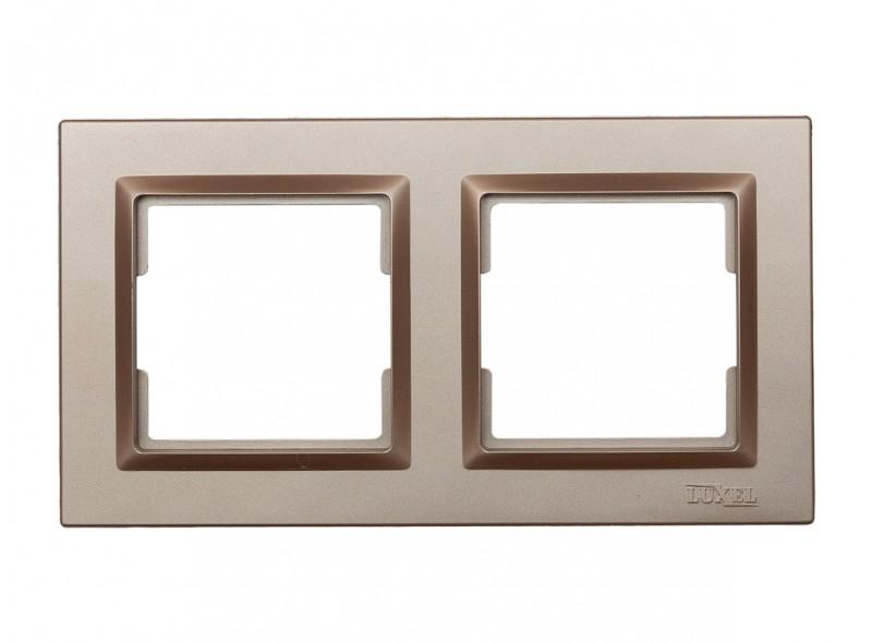 Рамка 2-я горизонтальная Luxel JAZZ (9222) Терракотовая
