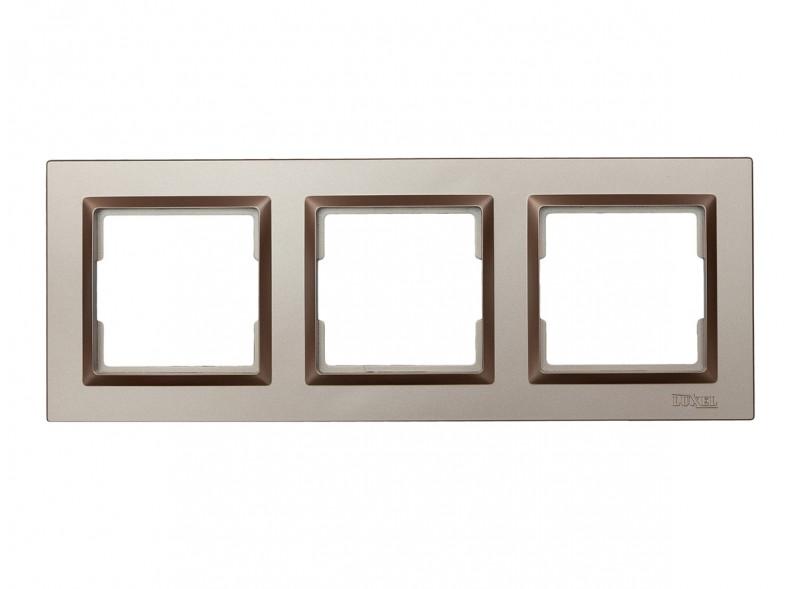 Рамка 3-я горизонтальная Luxel JAZZ (9223) Терракотовая