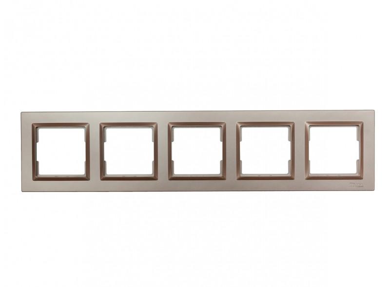 Рамка 5-я горизонтальная Luxel JAZZ (9225) Терракотовая