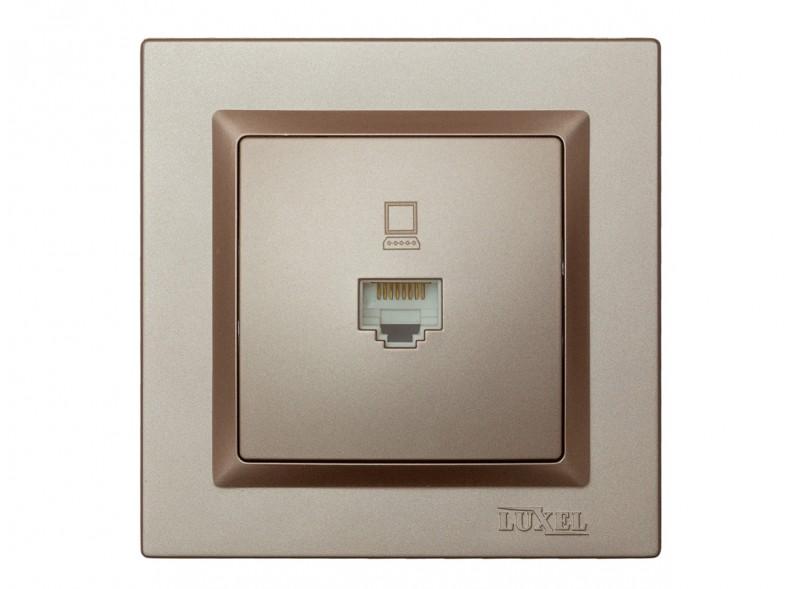 Компьютерная розетка Luxel JAZZ (9227) Терракотовая