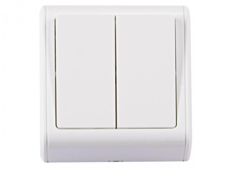 Двойной выключатель MINIATURE (2053) белый