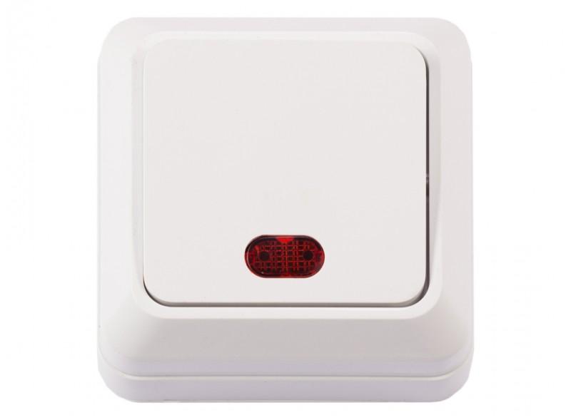 Наружный выключатель с подсветкой OPERA (2005) белый