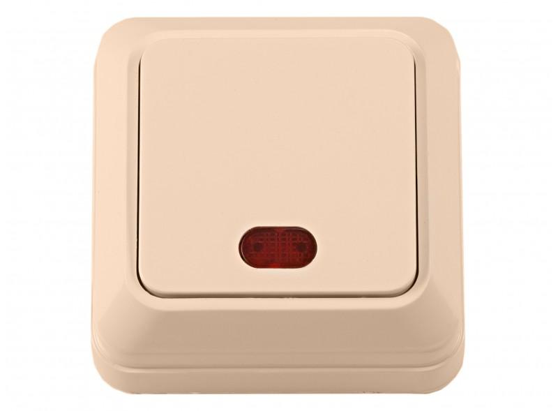 Наружный выключатель с подсветкой OPERA (2305) крем