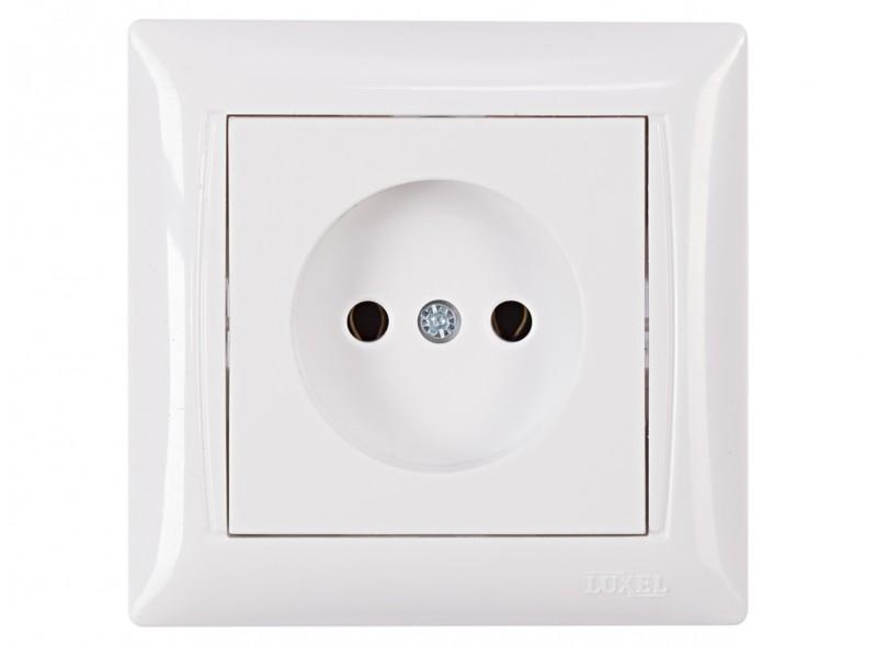 Розетка одинарная PRIMERA (3001) белый
