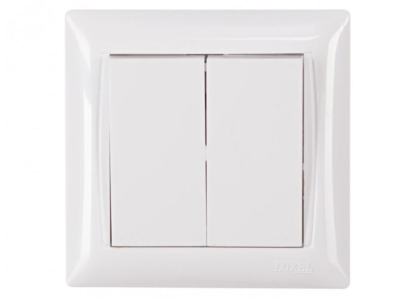 Выключатель двойной PRIMERA (3003) белый