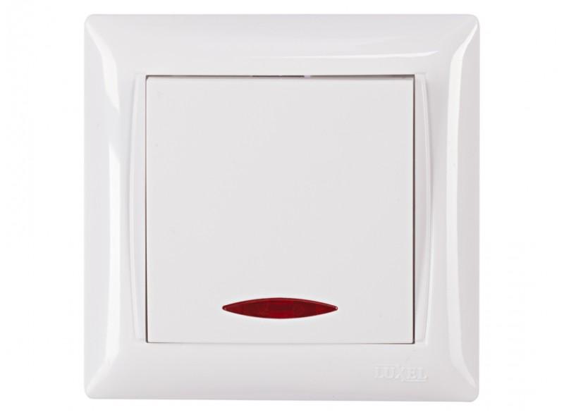 Выключатель с подсветкой PRIMERA (3005) белый