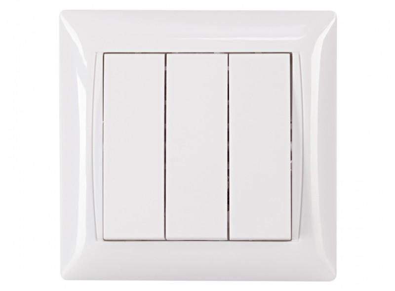 Выключатель тройной PRIMERA (3013) белый