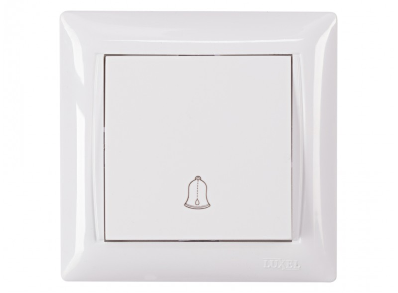 Кнопка звонка PRIMERA (3017) белый