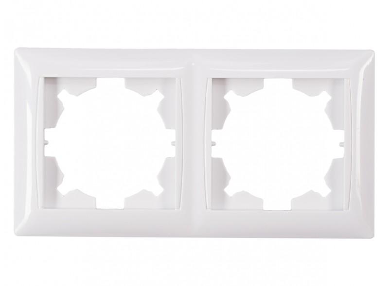 Рамка 2-я горизонтальная PRIMERA (3022) белый