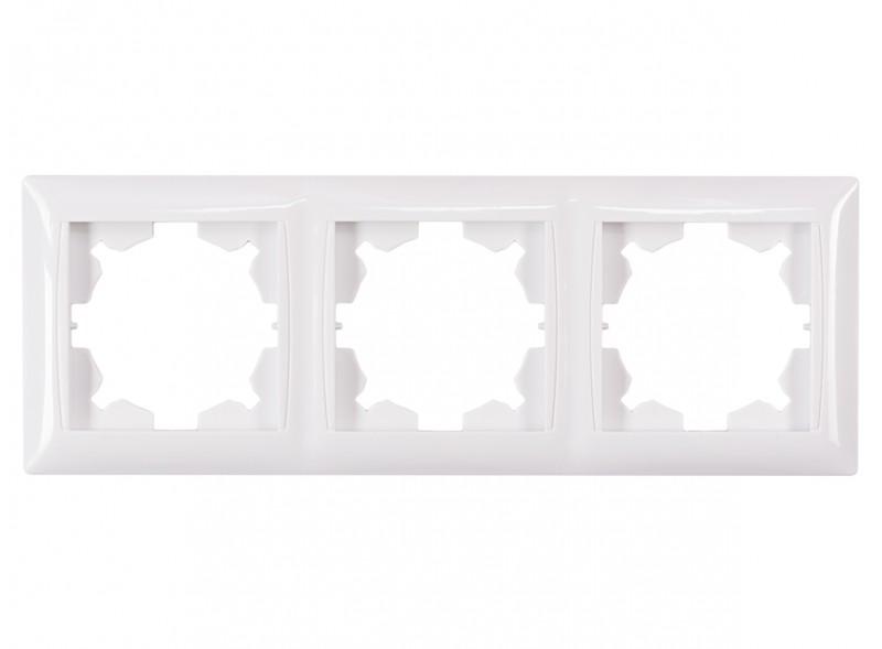 Рамка 3-я горизонтальная PRIMERA (3023) белый
