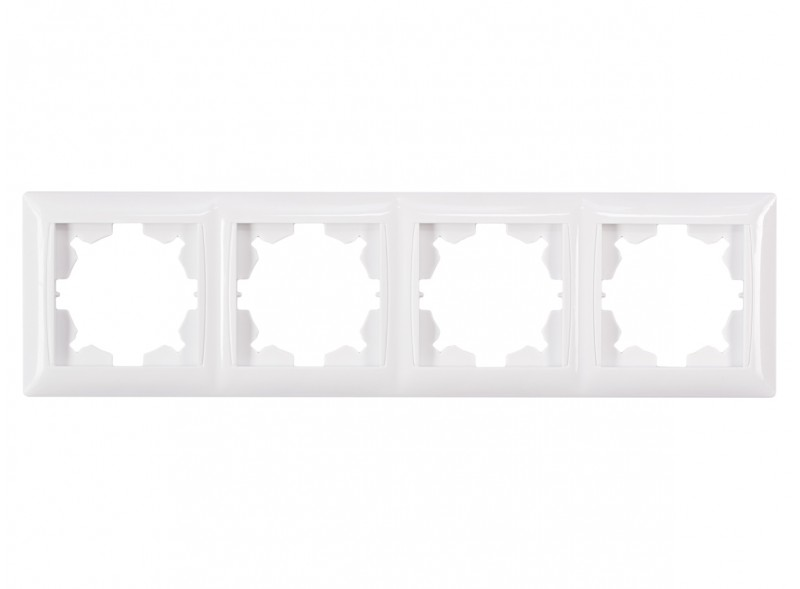 Рамка 4-я горизонтальная PRIMERA (3024) белый
