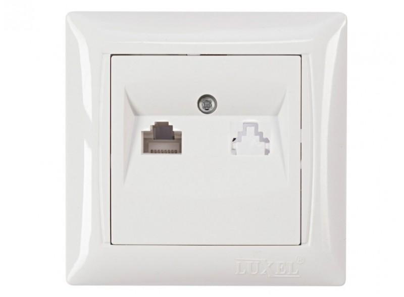 Компьютерная розетка PRIMERA (3027) белый