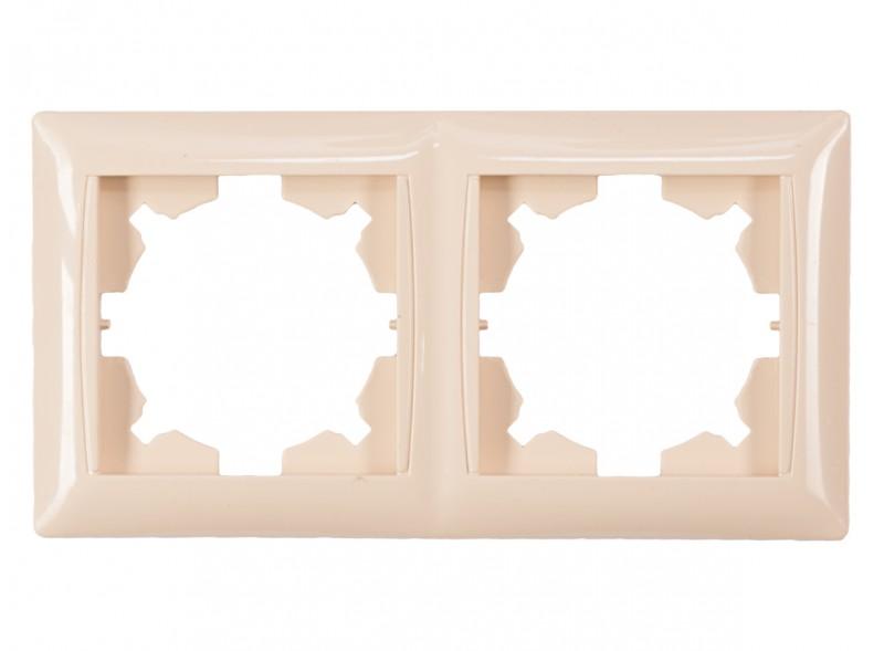 Рамка 2-я горизонтальная PRIMERA (3322) крем