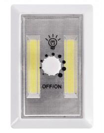 Светодиодный ночник с регулятором яркости Luxel  на батарейках 3W (NLB-01W)