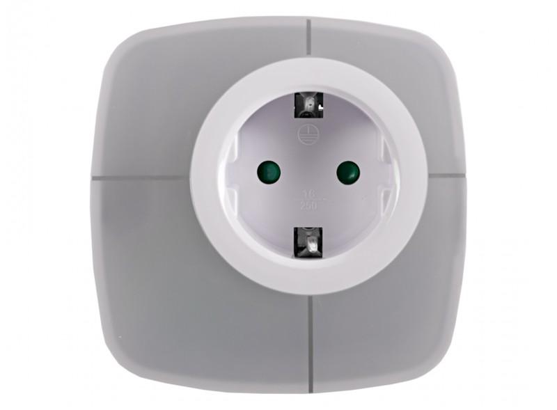 Светодиодный ночник с розеткой Luxel 0,6W (NL-03W)