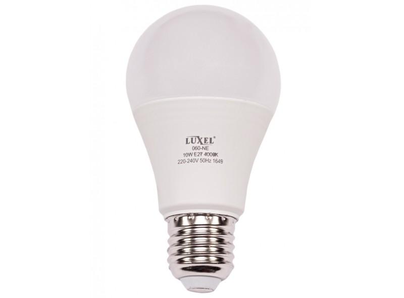 Светодиодная лампа Luxel A60 10W 220V E27 6500K (ECO 060-CE 10W)