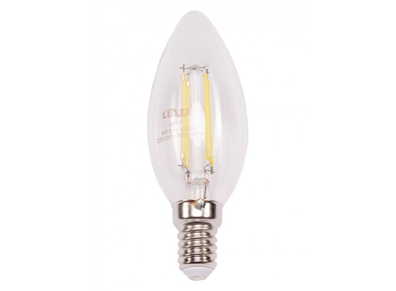 Филаментная светодиодная лампа Luxel 071-N 4W E14 4000K 440 lm 4 нити  (071-N 4W)
