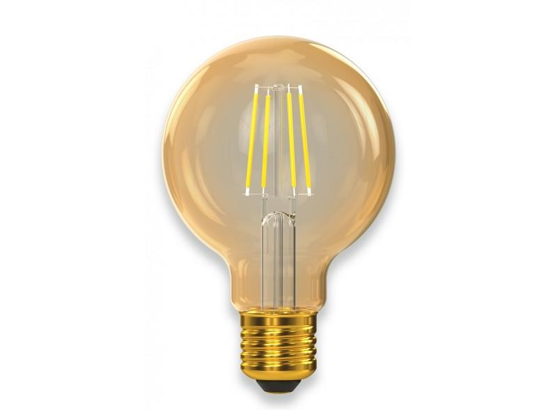 Филаментная светодиодная лампа Luxel 077-HG 5W G80 E27 2500K (077-HG) Gold