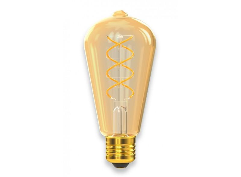 Филаментная светодиодная лампа Luxel 079-HG 6W ST64 E27 1800K (079-HG) Gold