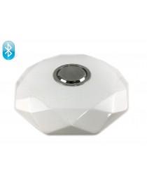 Светодиодный светильник Luxel 410х95мм IP20 с Bluetooth динамиком и пультом управления 48W (CLNR-48)