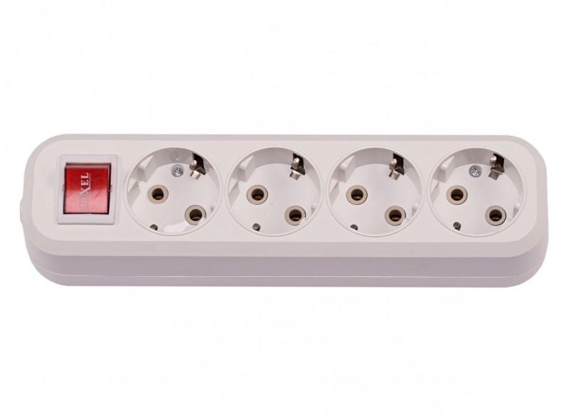 4-я колодка с заземляющим контактом и выключателем (7251)