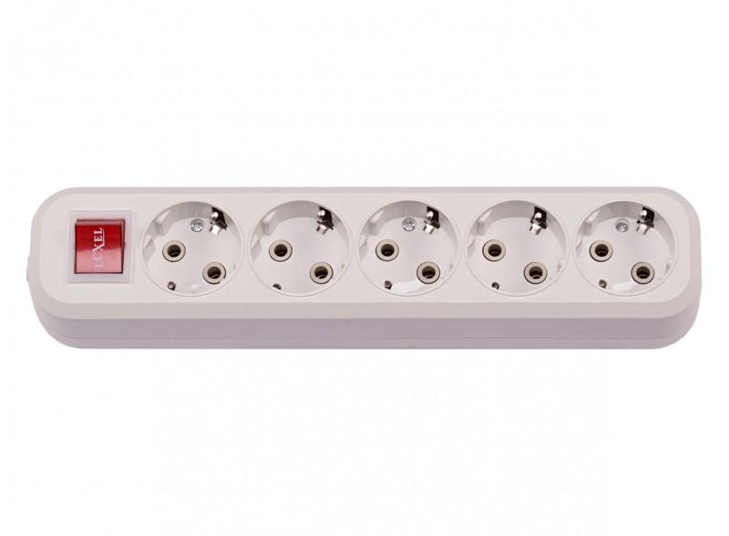 5-я колодка с заземляющим контактом и выключателем (7271)