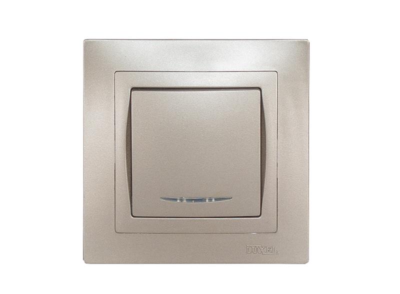 Выключатель с подсветкой BRAVO (5405) антрацит