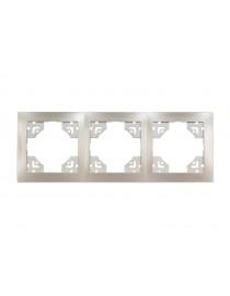 Рамка 3-я горизонтальная Luxel BRAVO (5423) антрацитовая