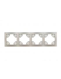 Рамка 4-я горизонтальная Luxel BRAVO (5424) антрацитовая