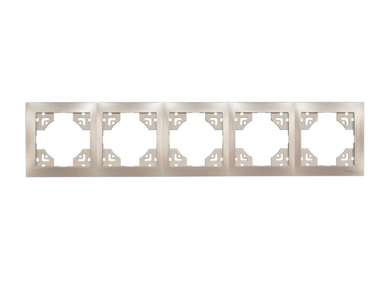 Рамка 5-я горизонтальная BRAVO (5425) антрацит
