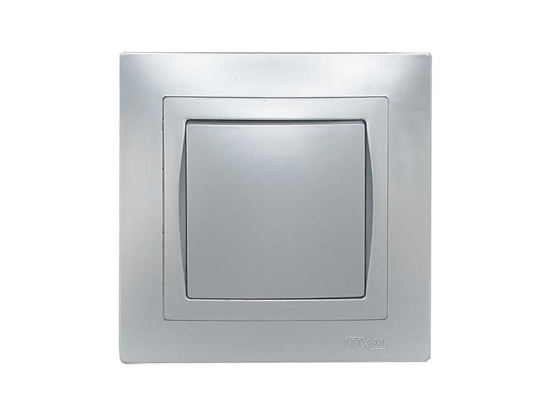 Выключатель BRAVO (5502) серебро