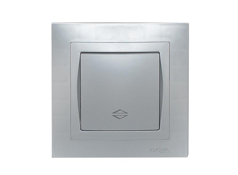 Выключатель проходной BRAVO (5515) серебро