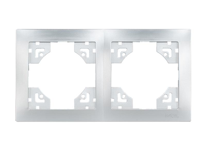 Рамка 2-я горизонтальная BRAVO (5522) серебро