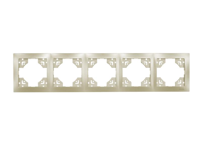 Рамка 5-я горизонтальная BRAVO (5625) платина