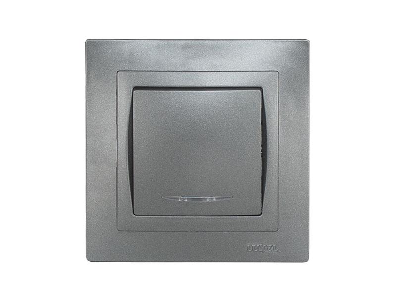 Выключатель с подсветкой BRAVO (5705) графит