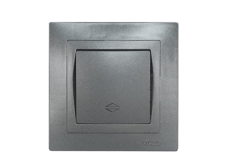 Выключатель проходной BRAVO (5715) графит