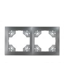 Рамка 2-я горизонтальная Luxel BRAVO (5722) графитовая