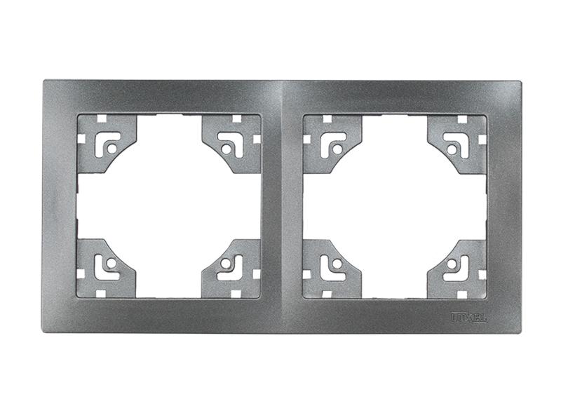 Рамка 2-я горизонтальная BRAVO (5722) графит