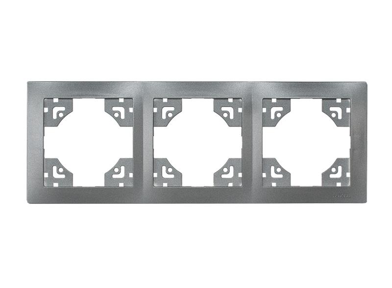 Рамка 3-я горизонтальная BRAVO (5723) Графит