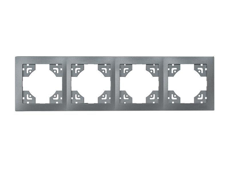 Рамка 4-я горизонтальная BRAVO (5724) графит