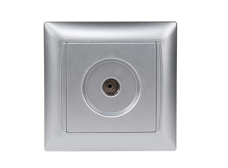 Розетка телевизионная PRIMERA (3509) серебро