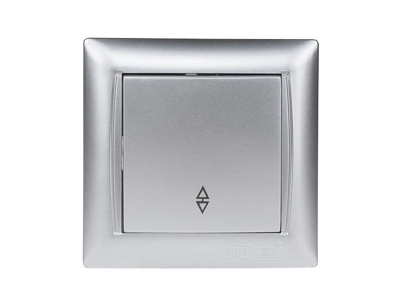 Выключатель проходной PRIMERA  (3515) серебро