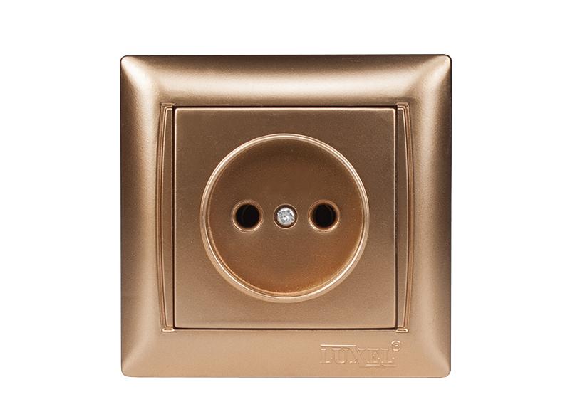 Розетка одинарная PRIMERA (3601) золото