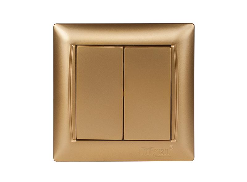 Выключатель двойной PRIMERA (3603) золото