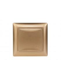 Розетка с заземлением и крышкой Luxel PRIMERA (3611) золотая