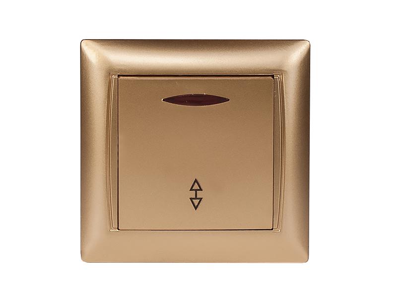 Выключатель проходной с подсветкой PRIMERA (3616)