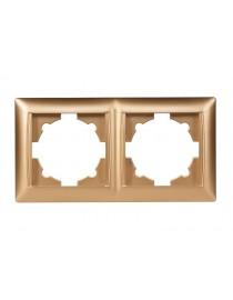 Рамка 2-я горизонтальная Luxel PRIMERA (3622) золотая