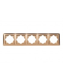 Рамка 5-я горизонтальная Luxel PRIMERA (3625) золотая